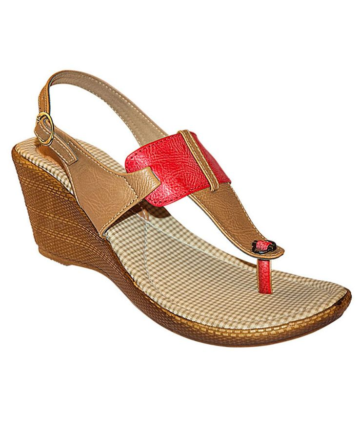Loved it: Khadim's Cleo Red/beige Sling-back Wedge Sandals, http://www.snapdeal.com/product/khadims-cleo-redbeige-slingback-wedge/1945743802