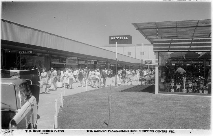 The Garden Plaza at Chadstone 1960.  Not an expensive boutique in sight.