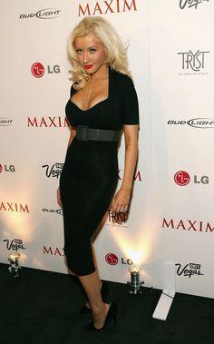 Aguilera black dress