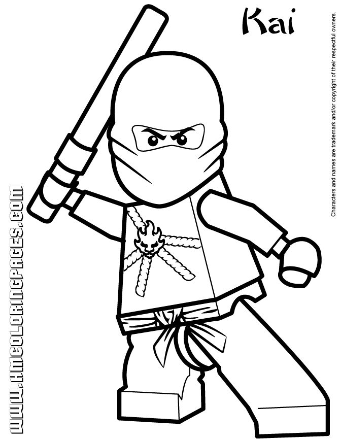 Lego Ninjago Book Coloring Coloring Pages