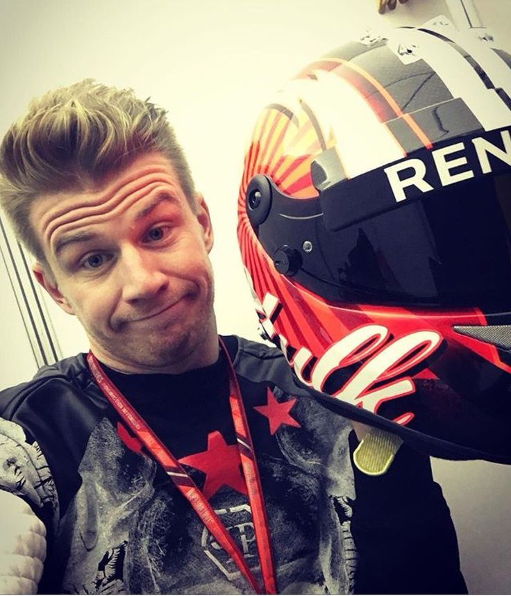 Nico Hulkenberg switches from green to red.
