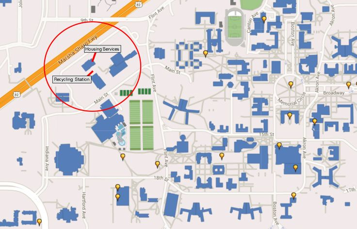 """The Texas Tech drop off station is located behind Housing Services. There are direction signs located at the Physical Plant parking lot entrances off of Main and Flint and Main and Harford (across from the Student Rec Center). The signs say """"TTU Recycling""""."""