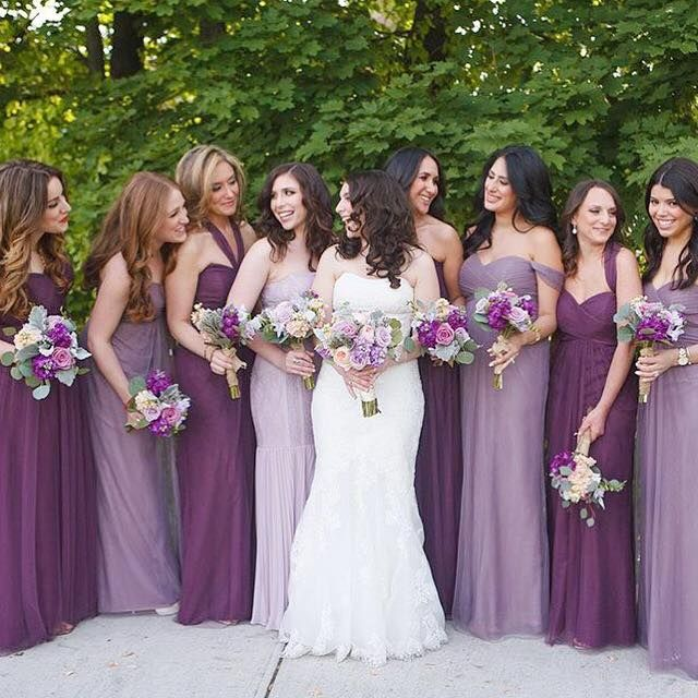 I really want ombré bridesmaids dresses when it's my time.