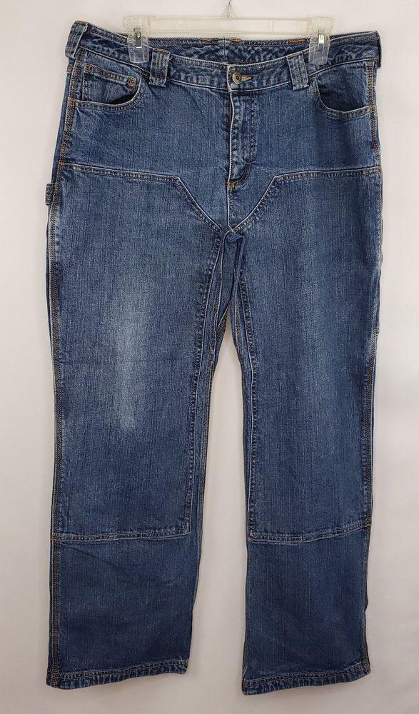 Duluth Trading Co Women S Sz 16 X 31 Carpenter Pants Blue Denim