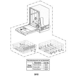 LG Dishwasher Exploded view Parts