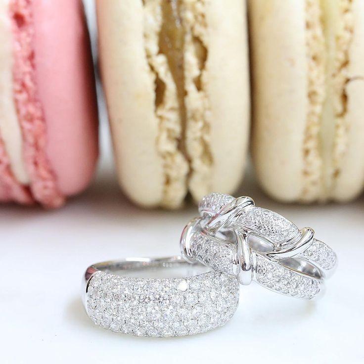 Pave diamond rings // KL Diamonds
