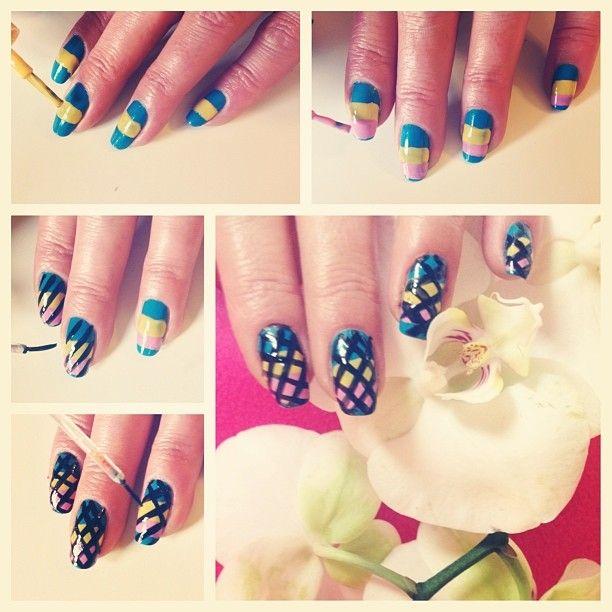 Mavi, sarı, pembe ve siyah çizgiler... Biraz yaz, biraz kış :)