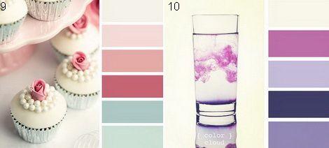 Белый с розовым, фиолетовым