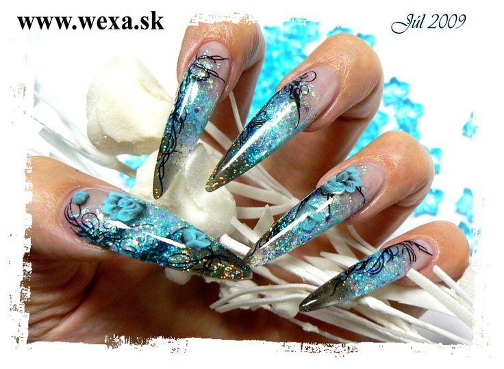 Azur Blue Nails