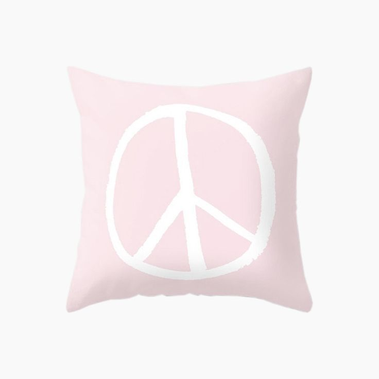 Peace Cushion - Pink