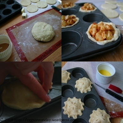 "Too cute for words & look so easy -- Apple ""Cup Pies"" via Eggs on Sunday"