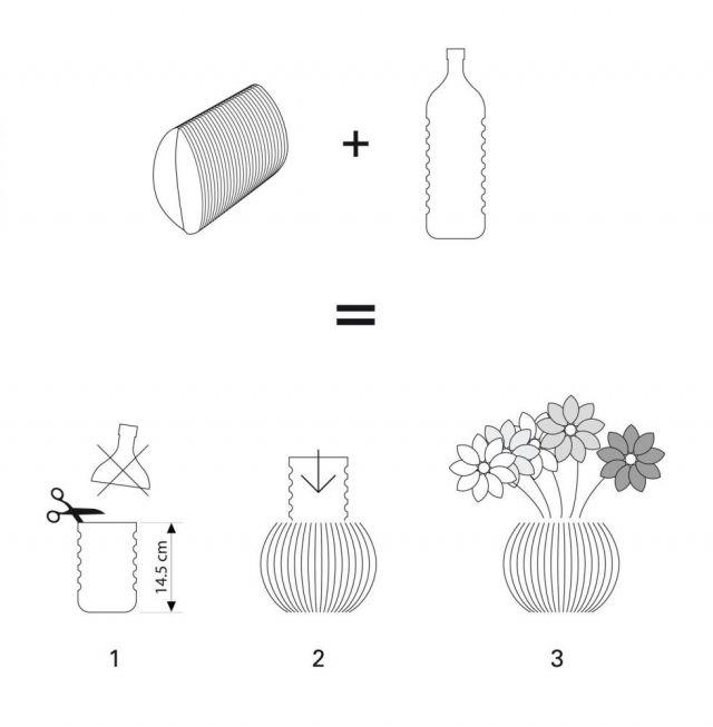 Картонная ваза / Цветы, вазы и цветочные горшки / ВТОРАЯ УЛИЦА