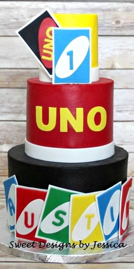 UNO Birthday Cake