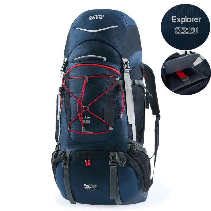 Terra Peak Adjustable Hiking Backpack 55/65/85+20L for Men Women, Free Rain Cover Included, Black Navy.backpacking backpack,external frame backpack,best travel backpack,lightweight backpack,traveling backpack,backpacks for travel,travel backpack for international travel,women backpacking backpack,85l backpack,65l backpack,55l backpack,backpacking bags,internal frame backpack,hiking backpack,travel backpack,outdoor backpacks,trekking backpacks,Backpacking Packs,best backpack for travel