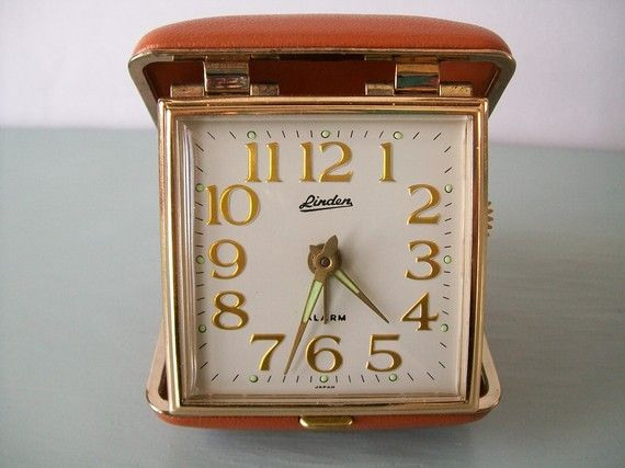 My mother had this soooo long ago.  Of course knowing her, she still has it!   travel alarm clock  =)
