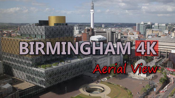 Ultra HD 4K Birmingham England Aerial View Travel Sightseeings & Landmarks UHD Video Stock Footage