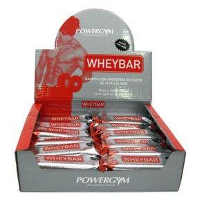 WHEYBAR.  Barrita con proteínas de suero de alta calidad.  Suplemento deportivo que mejora rápidamente la recuperación muscular.  Aporte de proteínas de suero en barritas: relleno con 47 % de proteínas de suero.  http://www.powergym.com/es/productos/todos-los-productos/whey-bar