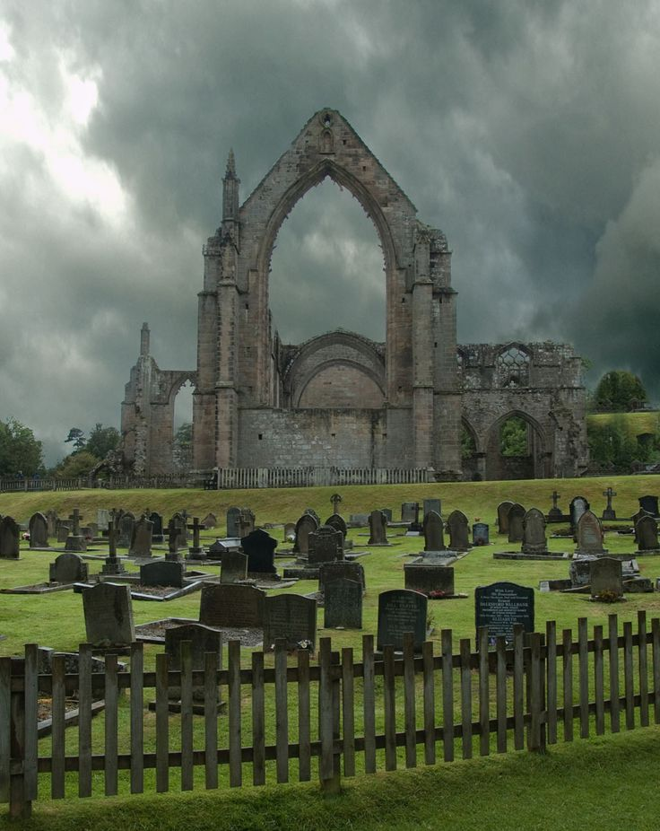 The ruins of Bolton Abbey, North Yorkshire, England.