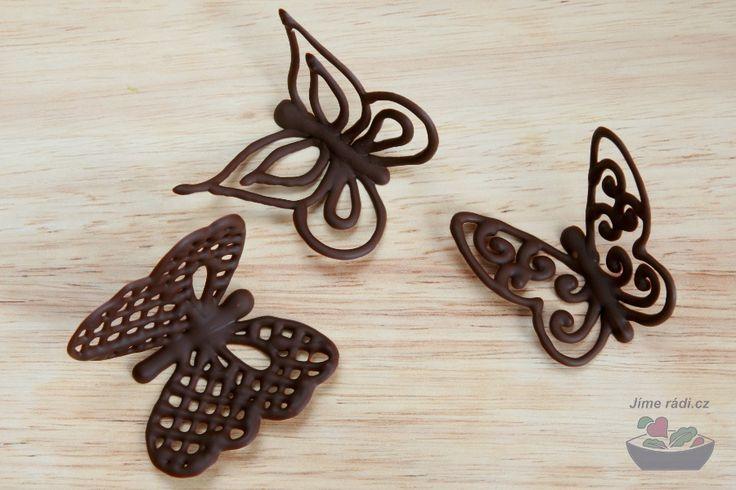 čokoládoví motýlci