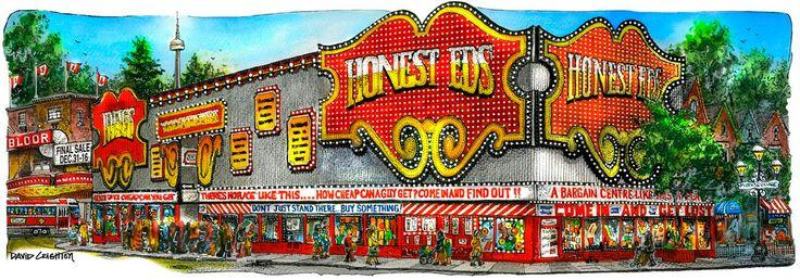 Card Honest Ed's By David Crighton by DavidCrightonArt on Etsy