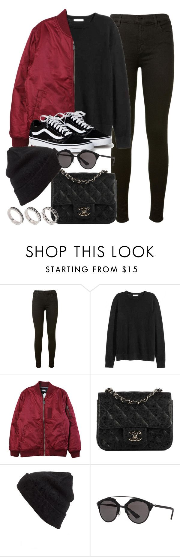 """""""Sin título #11985"""" by vany-alvarado ❤ liked on Polyvore featuring J Brand, H&M, Stussy, Chanel, BP., Christian Dior and ASOS"""