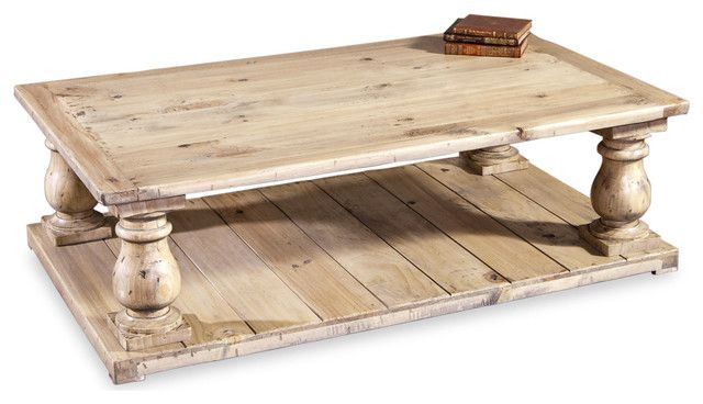 Bleached Wood French Country Coffee Table