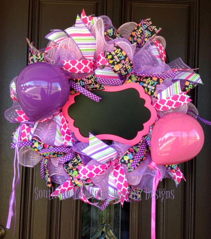 A personal favorite from my Etsy shop https://www.etsy.com/listing/503010553/birthday-wreath-birthday-decor-birthday