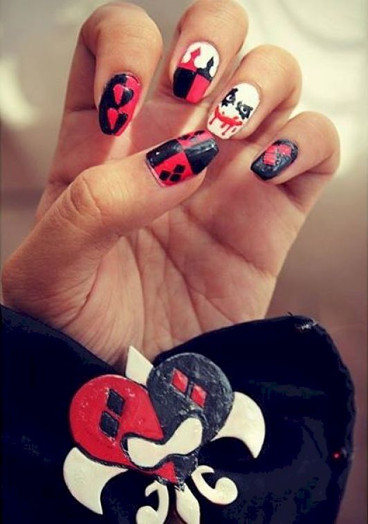 77 best Harley Quinn Nails images on Pinterest | Harley quinn, Nail ...