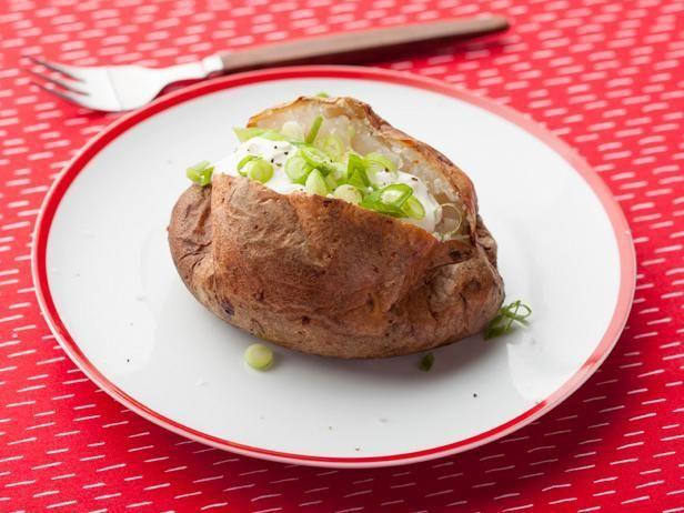 Get Alton Brown's The Baked Potato Recipe from Food Network, 425 for 90 mins, big potato