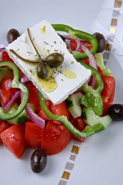 Delicious Greek salad at Hilton Athens