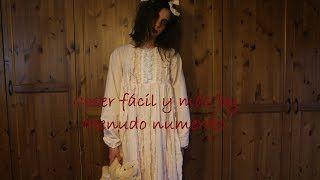 Tutorial https://www.youtube.com/watch?v=EK2cntzqIb8&list=UUmVeX8Zr3BDSRtdE8eLunlg Disfraz de la niña del exorcista reciclando una sábana vieja