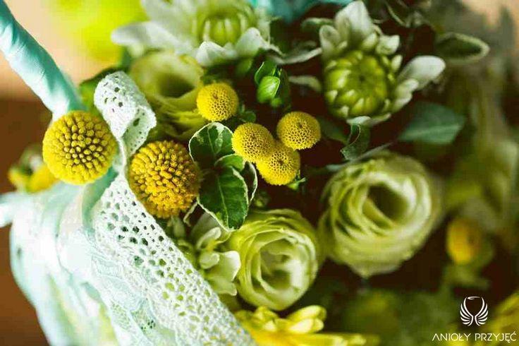 2. Green Wedding,Flower bag instead of a bouquet / Wesele w zielen,Anioły Przyjęć