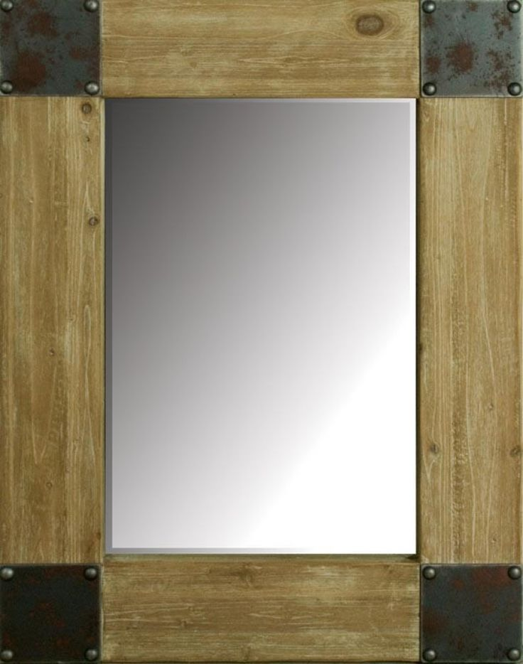 large wood mirrors  INDUSTRIAL Wall Mirror  Large  For