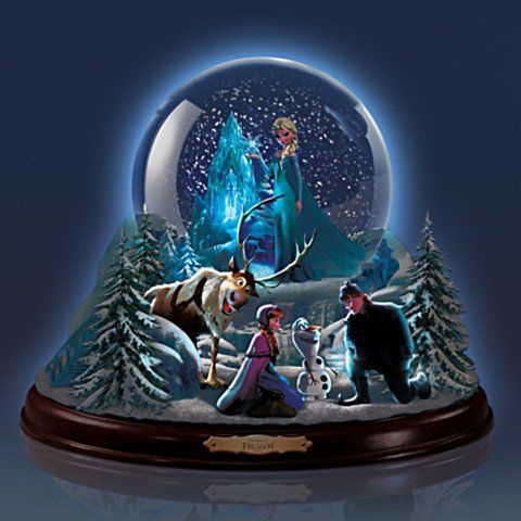Disney The Magic Of FROZEN Snowglobe - Glows in the Dark