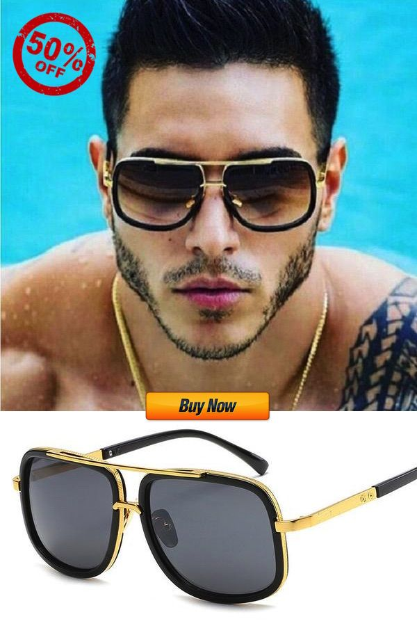 Men/'s or Womens CLASSIC VINTAGE RETRO Style SUNGLASSES SHADES Black /& Gold Frame