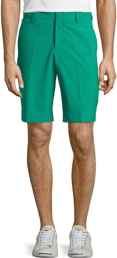 $60, Green Shorts: J. Lindeberg J Lindeberg True Micro Stretch Golf Shorts Green. Sold by Last Call by Neiman Marcus. Click for more info: https://lookastic.com/men/shop_items/209156/redirect