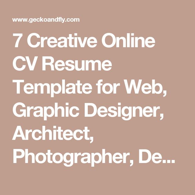 Best 25+ Online resume builder ideas on Pinterest Resume builder - online resume template