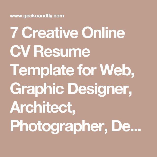 make a cv online