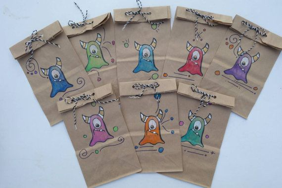 Monster Party Favor Bags-Made to Order-Free by ScreamNSnuggle