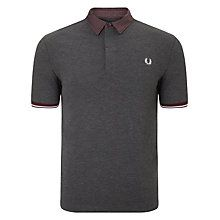 Buy Fred Perry Marl Gingham Trim Pique Polo Shirt Online at johnlewis.com