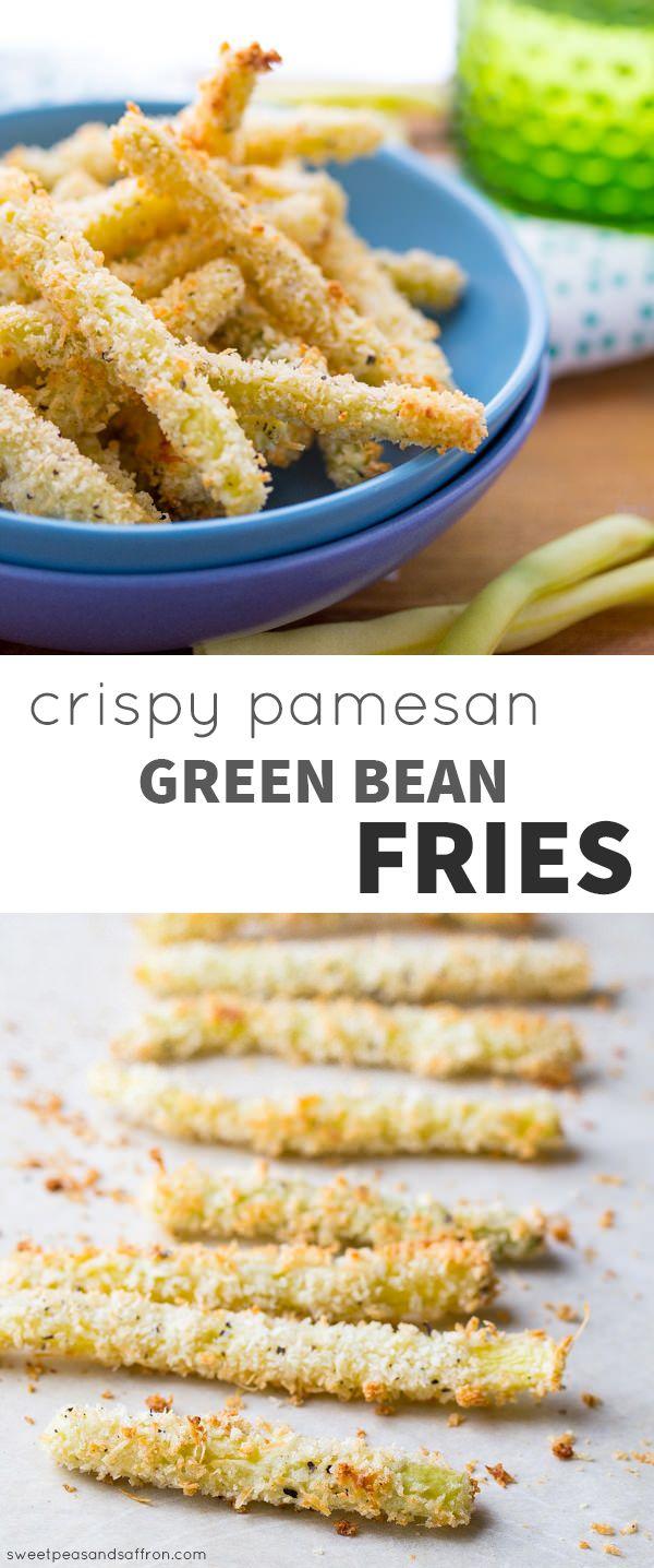 Crispy Oven-Baked Parmesan Green Bean Fries @sweetpeasaffron