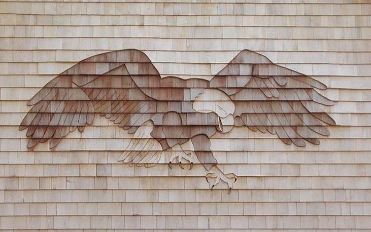 American Bald Eagle Shingle Art By Jolly Roger Woodworking