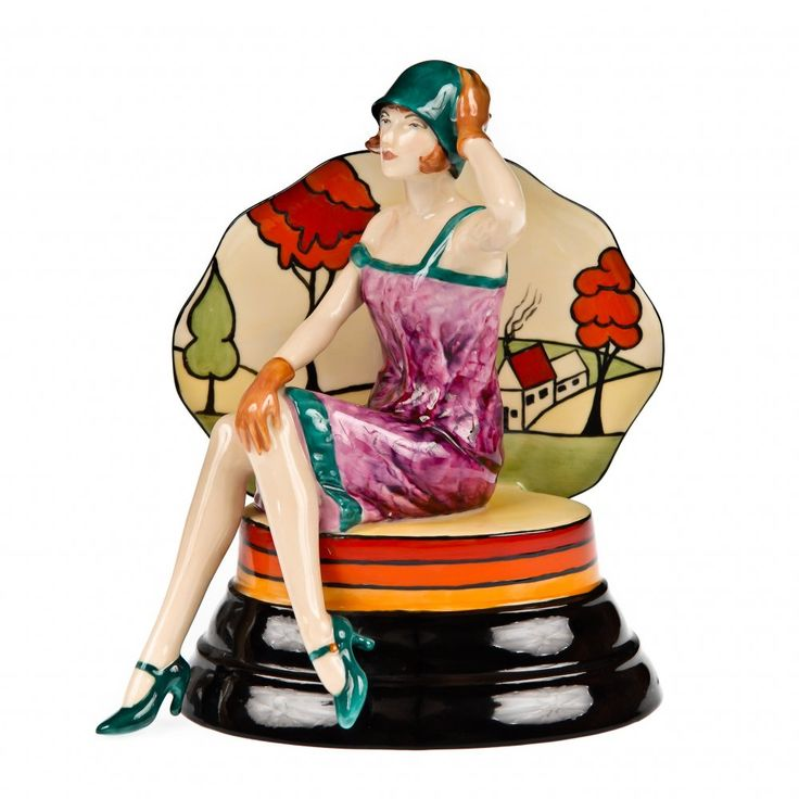"""Putting on the Ritz"" Clarice Cliff Art Deco Figurine"