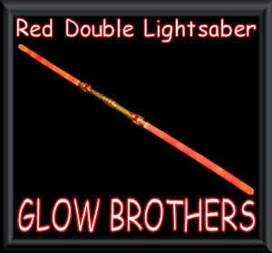 RED DOUBLE LIGHTSABER WITH SOUND. DARTH MAUL STAR WARS