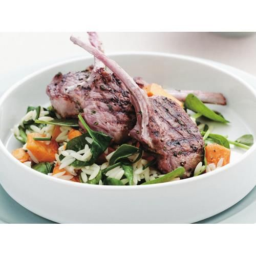 Grilled lamb cutlets with warm risoni salad recipe - By Australian Women's Weekly