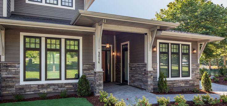 Home Exterior/Entrance: Sterling, LEDGESTONE - Versetta Stone® Brand_Stone Siding