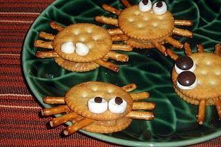 healthy spider snacks! for spider week!