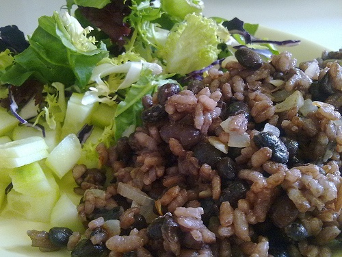The Humbled Homemaker: Gallo Pinto: A Traditional Costa Rican Breakfast.  In the email, ham bits were sprinkled on top.