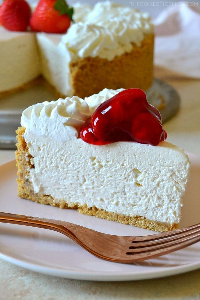 Best Ever No Bake Cheesecake Recipe Easy Cheesecake Recipes Cheesecake Recipes Savoury Cake