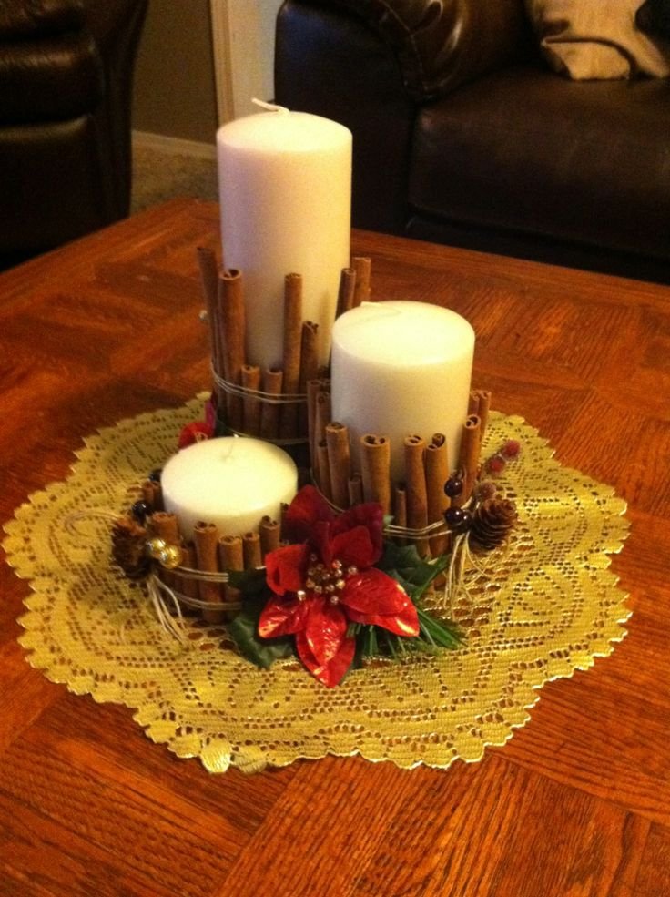 Christmas candles | Country Christmas | Pinterest | Christmas Candles, Christmas and Christmas decorations